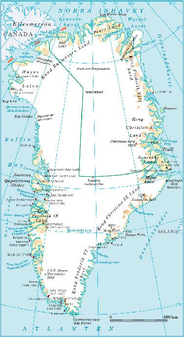 grönlands karta Karta över Grönland grönlands karta